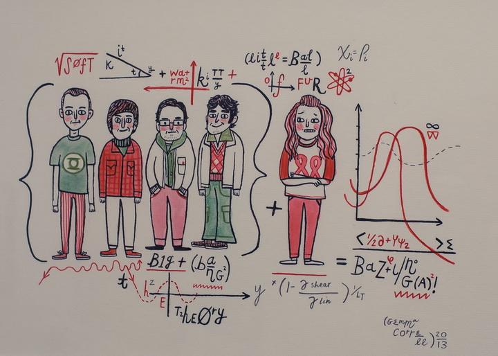 "Джемма Коррелл ""Теория Большого Взрыва"" (Gemma Correll ""The Big Bang Theory"")(USA)"