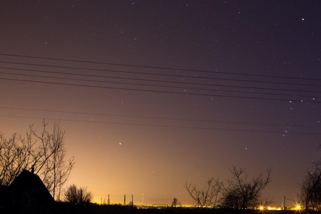 Ночное небо над Витебском