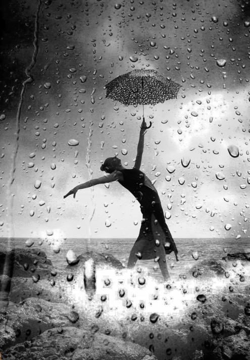 Зонт и капли дождя. Soli Art.