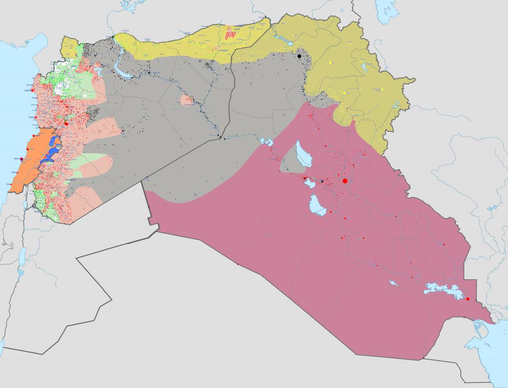 Карта гражданской войны в Сирии на состояние 30 ноября 2015.