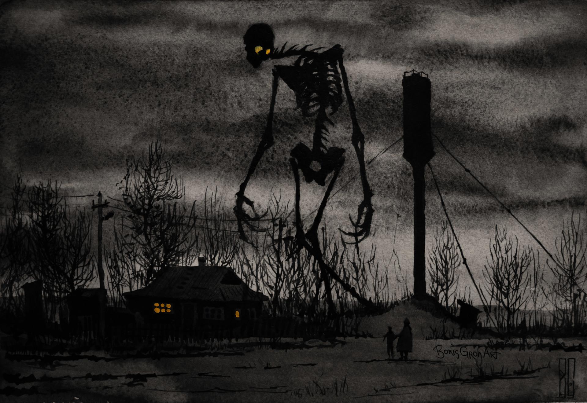 борис грох скелет в деревне
