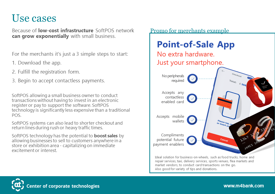 SoftPOS for microbusiness
