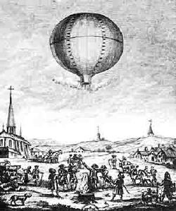 Первый полёт шара Монгольфьер